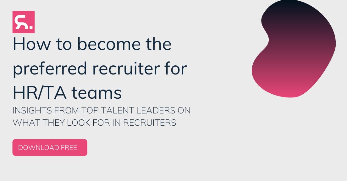 Preferred Recruiter for TA teams CTA